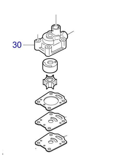 画像1: TOHATSU(トーハツ) ポンプケース (アッパ) 2・4ストローク 6〜9.8馬力用 (1)